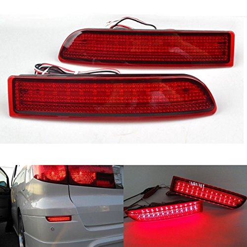 RunQiao Red LED Rear Bumper Reflector Turn Signal Brake Tail Lights Lamps for Toyota RAV4 06-12 Scion xD 08-12