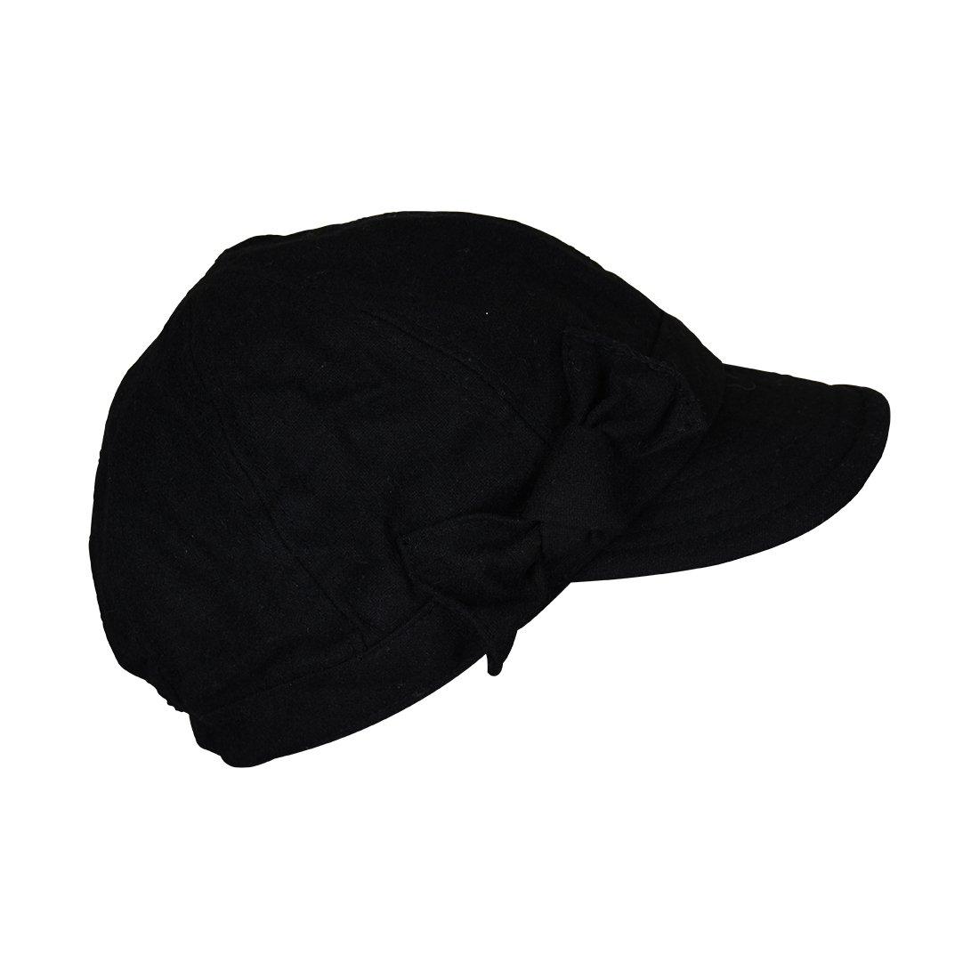 Landana Headscarves Ladies Winter Cap with Bow - Black