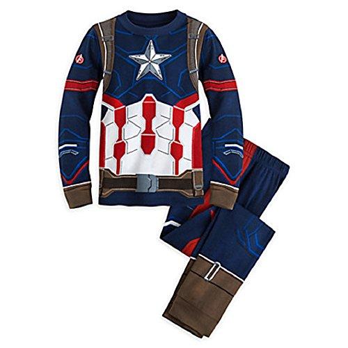 Disney Store Marvel Captain America: Civil War Captain America Costume PJ PALS for Boys Size (Costumes Of America)
