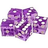 Trademark Poker 19mm A Grade Serialized Set of Casino Dice (Purple)