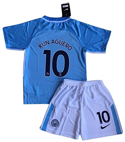 Kun Aguero #10 Manchester City 2017-18 Kids/Youths Home Soccer Jersey & Shorts (7-eight Years Previous) – DiZiSports Store