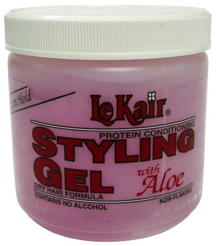Lekair Styling Gel - Extra Hold Pink Bonus 20 oz. (Pack of 2) by Lekair