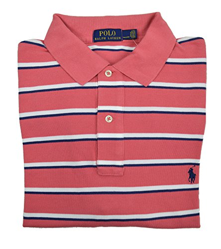 Polo Ralph Lauren Men's Big and Tall Striped Short Sleeve Polo Shirt Winslow Red 2XLT ()