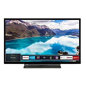 Toshiba 24WL3A63DB 24-Inch HD Ready Smart TV with Freeview Play – Black/Silver (2019 Model)