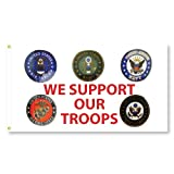 We Support Our Troops Flag (3 ft. x 5 ft.) For Sale