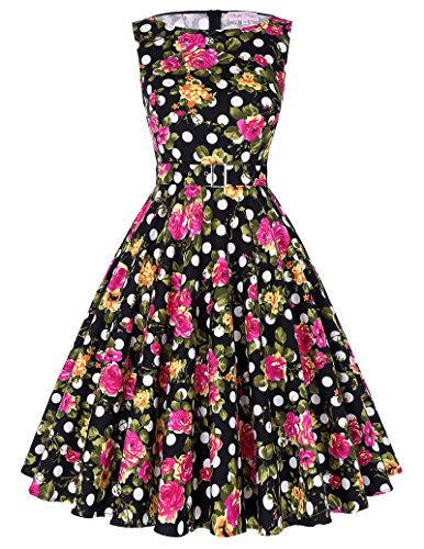Belle-Poque-Sleeveless-Floral-Print-Vintage-Swing-Cocktail-Dress-BP02