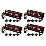 Venom 20C 3S 5400mAh 11.1 LiPO Battery with Universal Plug (4-Pack)