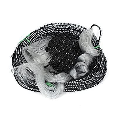 Fish Tackle 6x 6cm du trou du couplage de pêche filet de filet dérivant Noir Gris 30m x 1.8m