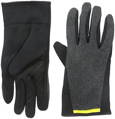 U|R Men's Kelvyn Racer Back Touchscreen Glove, Charcoal, Small/Medium