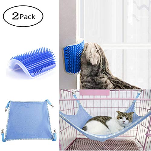 Fanciest Pet Cage Hammock and Self Message Comb,Small Pet Puppy Cat Ferret Hanging Breathable...