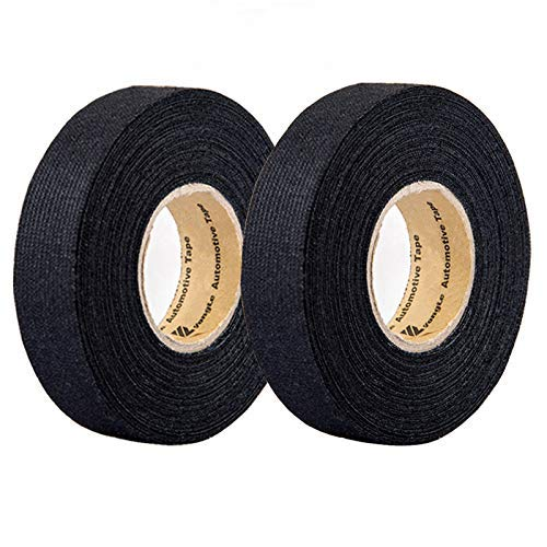 2 Rolls Automotive Wiring Harness Cloth Tape, High Temp Wire Harness  Wrapping Tape, Black Adhesive Fabric Tape, Noise Damping Heat Proof (19MM ×  25M): Amazon.com: Industrial & ScientificAmazon.com