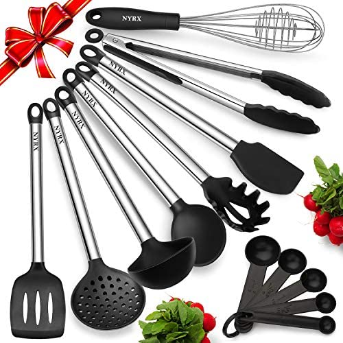Silicone Utensils Stainless Resistant Nonstick