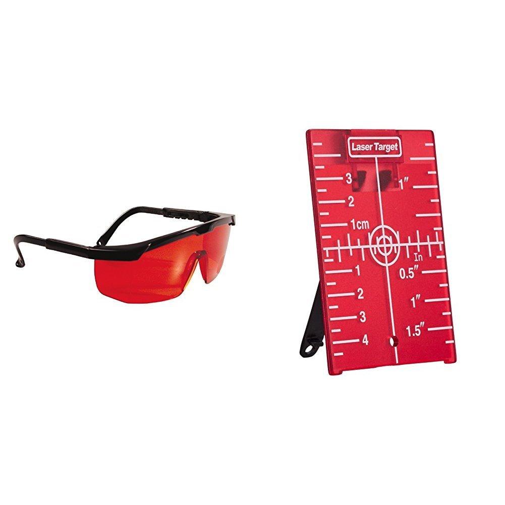 Stanley Laserbrille 1-77-171 Rot – Laserlichtbrille für einfacheres Erkennen von Laserstrahlen – Optimal bei ungünstigen Lichtverhältnissen – Rote Kunststoff-Gläser mit schwarzem Gestell BLAMT