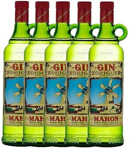 Pack 5 Botellas de ginebra Gin Xoriguer Mahón-Menorca 70 cl.: Amazon.es: Alimentación y bebidas