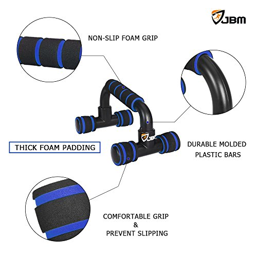 JBM Perfect Muscle Push up Pushup Bars Stands Handles Aid Equipment for Men and Women Pushups Pushup Push up Workout Pairs of Slip resistant Polypropylene Push up Exercise Benefits