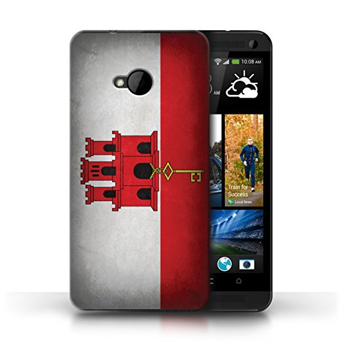 Etui / Coque pour HTC One/1 M7 / Gibraltar conception / Collection de Drapeau
