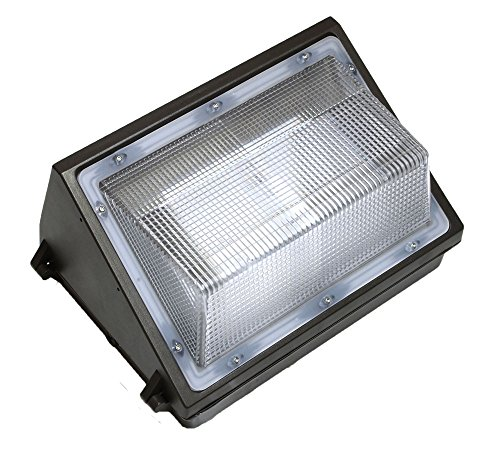 - ProjectLED 45W LED Wall Pack Fixture, 150-250W HPS/HID Replacement, 5000K (White), 3900 Lumens, Waterproof and Outdoor Rated, UL & DLC