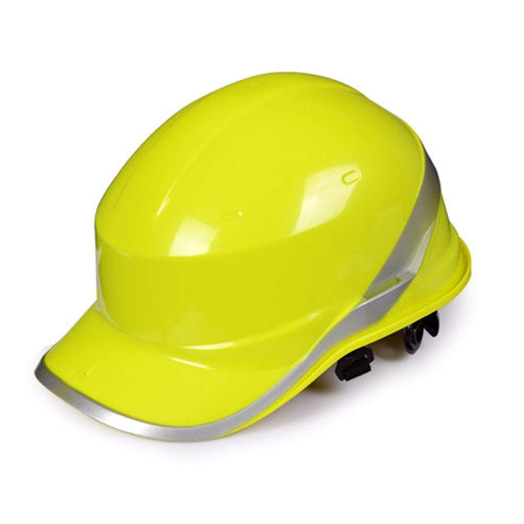 LJL Casco de Seguridad Casco c/ómodo y ventilado para Trabajos en Altura y Socorro Amarillo de Alta Visibilidad Sombrero Duro