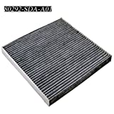 Carrep Cabin Air Filter Engine Filter for 2003-2015 Honda CRV Civic Accord Odyssey Crosstour Ridgeline Acura 80292-SDA-A01 (Black)