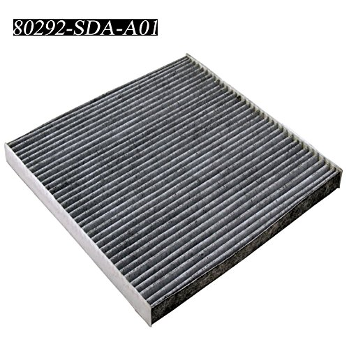 Carrep Cabin Air Filter Engine Filter for 2003-2015 Honda CRV Civic Accord Odyssey Crosstour Ridgeline Acura 80292-SDA-A01 (Black) (Honda Civic Air Conditioning)