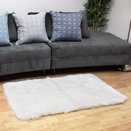 Homey COZY Faux Fur Sheepskin Area Rug
