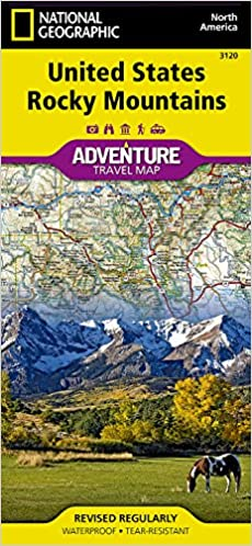 United States, Rocky Mountains (National Geographic Adventure Map ...