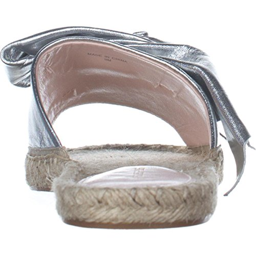Womens Toe Les Gemma Casual Open Silver Avec Sandals Filles Slide qcE7xRW4