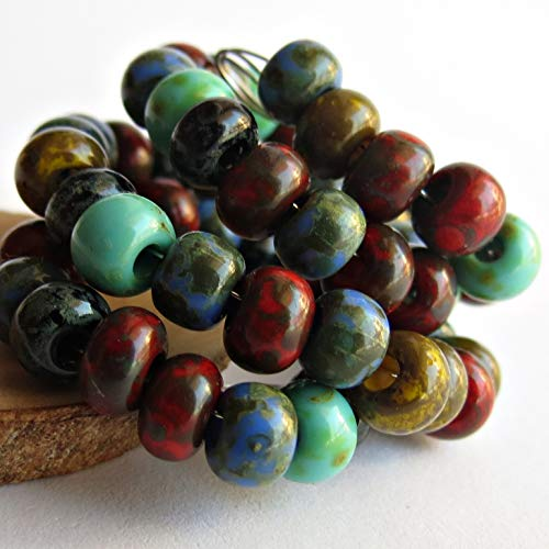 Avestabeads 20 g Tribal Mix Picasso Travertine 3/0 Czech Glass Seed Beads About 100 pcs in The ()