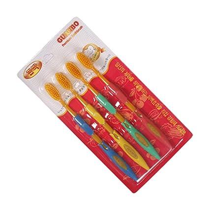 Yardwe Cepillos de dientes suaves 4pcs Cepillos de dientes de cerdas ultra finas para limpieza profunda