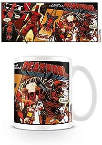 1art1 Deadpool, Comic Insufferable Taza Foto (9x8 cm) Y 1x Pegatina Sorpresa