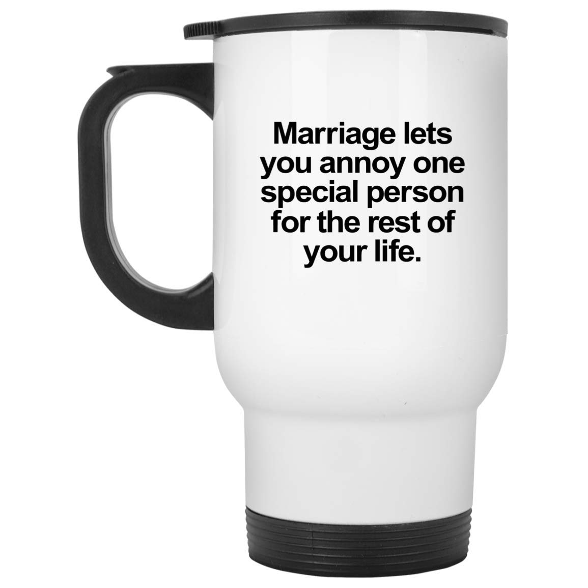 Funny Wife トラベルマグ - 14オンス ホワイトステンレススチール - 面白いノベルティギフトアイデア Happy Busy Proud Strong Single Greatest Future Coolest - 100406 B07L8M2HC2
