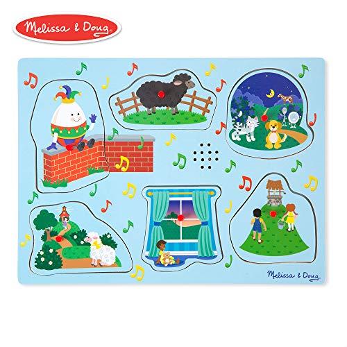Humpty Dumpty Rhymes - Melissa & Doug Nursery Rhymes 2 Sound Puzzle (6 Piece)