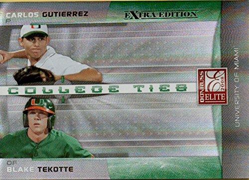 - Baseball MLB 2008 Elite Extra Edition College Ties Green #35 Carlos Gutierrez/Blake Tekotte/1500