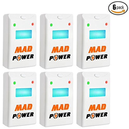 Ultrasonic Pest Repeller Night Light ([NEW 2018] Pest Repeller - BEST Control 6-Pack with TRIPLE Power [Ultrasonic + Electromagnetic + Nightlight] - Plug-In Electronic Home Repellent Anti Mice, Ant, Roach, Mosquito, Outdoor/Indoor)