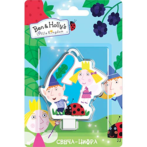 Ben & Holly's Little Kingdom Сandle on a Cake Topper 4 Years Must Have Accessories for the Party Supplies and Birthday ()