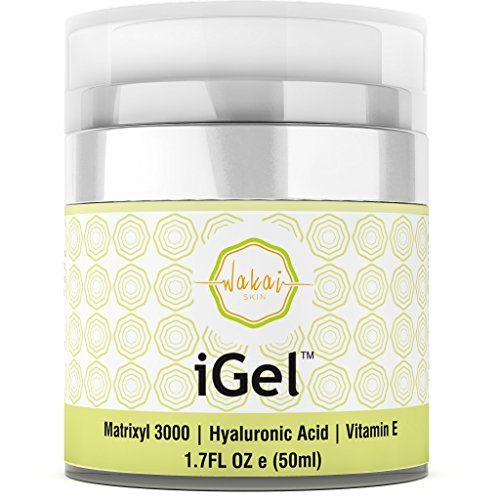 Wakai iGel Anti Aging Eye Cream - Lifting & Firming Under Eye Cream Combats Puffiness, Dark Circles & Wrinkles, With Organic Ingredients & Vitamins - Fast Absorbing & Light - Aging Anti Mask Lifting Treatment