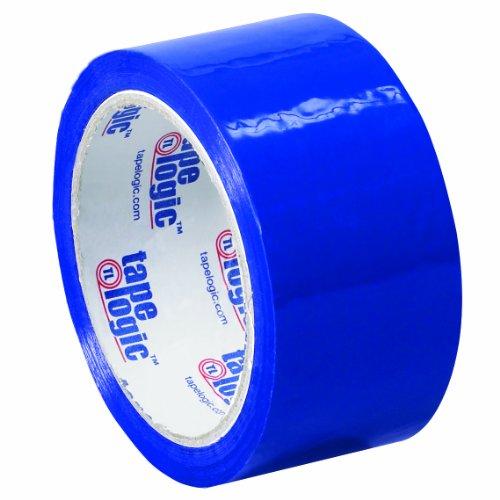 Tape Logic T90122B6PK Polypropylene Pressure Sensitive Carton Sealing Tape, 2.2 mil Thick, 55 yds Length x 2