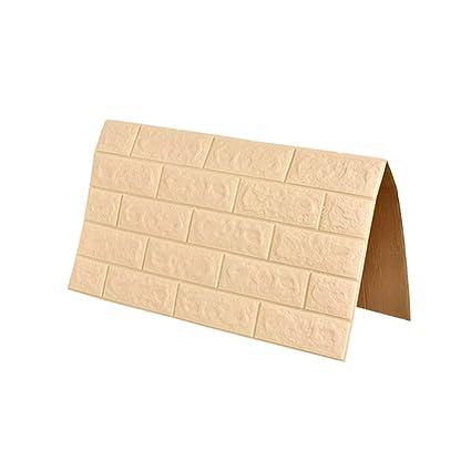 Pannelli 3D per pareti Color Panna Brick Wallpaper Peel e ...