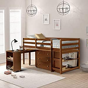 Harper&Bright Designs Low Study Twin Loft Bed