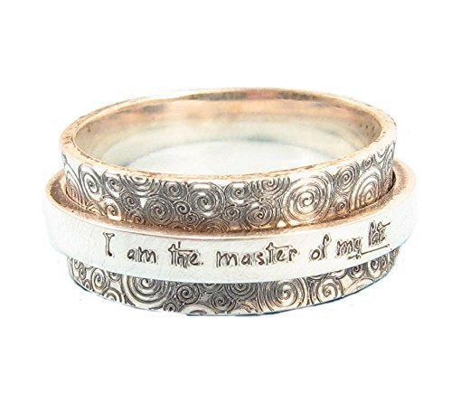 Personalized Spinner Ring - Statement Ring - Worry Ring