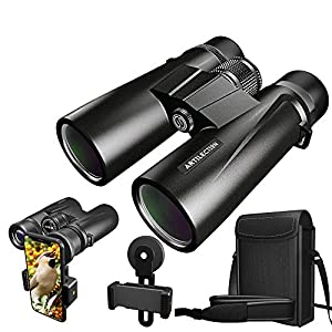 Artilection 10×42 Binoculars for Adults, HD Professional High Power Magnification Compact Wide Angle Binocular for Bird Watching, Hunting, Travel, FMC Lens with BAK4 Roof Prism