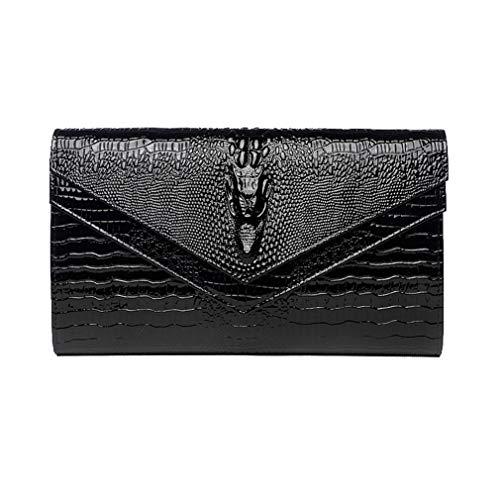 Wedding Leather with Bag Women Shoulder Fashion YANXH Evening Bag Black Sbanquet Large Women Capacity Envelope Clutch Handbag qwZCZ5