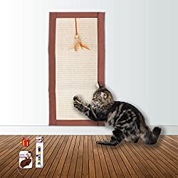 Pawise Cat Scratch Mat, Cat Bed Scratcher Cat Scratcher Pad with Cat Toy and Cat Collar 12""