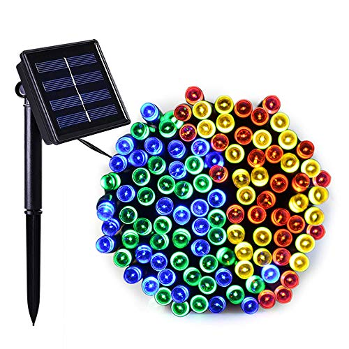 SZYOUMY Solar String Light, 33ft 100 LED 8 Modes Light Sensor Control Waterproof Decorative Ambiance Light for Patio, Lawn, Garden, Fence, Balcony, Party, Holiday, Christmas Decorations -