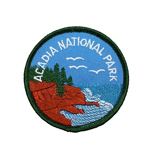 Acadia National Park Patch Souvenir Badge Travel US Embroidered Iron On ()
