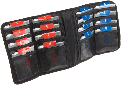 Lewis N. Clark AM/PM Folding Pill Organizer With 16 Slide-Locking Pouches