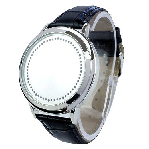 ChallengE Personalidad única Reloj de Pulsera Digital para Hombre Reloj Deportivo Relojes LED Reloj para Hombre Reloj (White): Amazon.es: Relojes