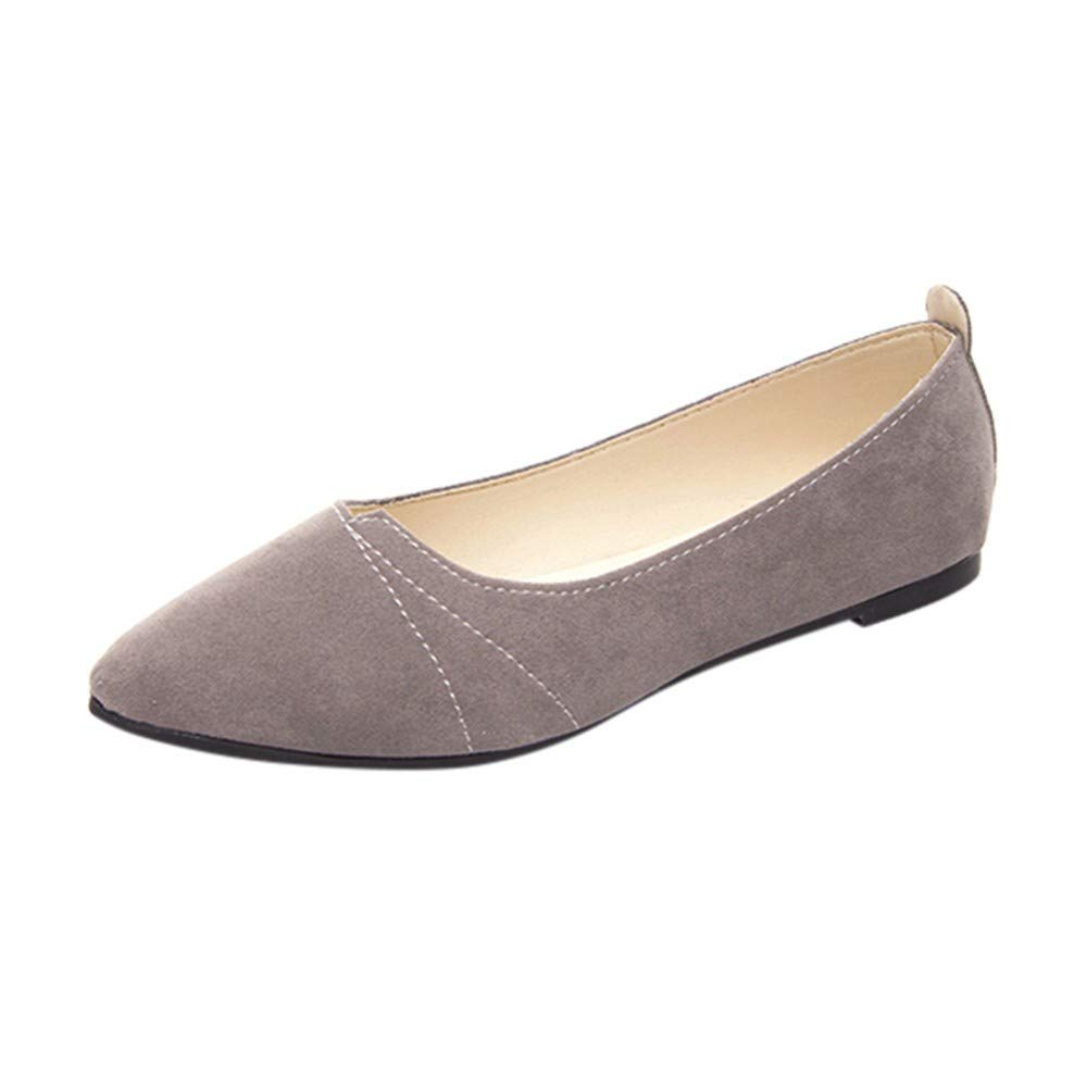 Flats Shoes Women Comfortable Pointy Toe, Spring Solid Color Pointed Comfortable Shoes NEEKEY