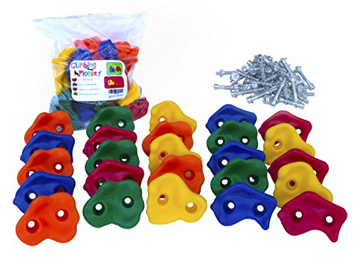Climbing Monkey Climbing Holds -- 25 Rock Climbing Holds - (Climbing Monkey Toy)