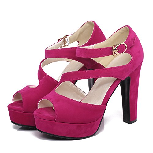 Moda Fuchsia Chunky JOJONUNU 809 Donna Tacco Sandali CwngH1F